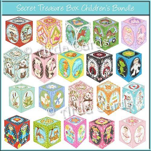 Bundle of 20 Secret Treasure Boxes to Print and Make
