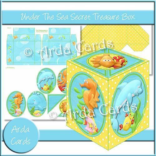 Under the Sea Printable Secret Treasure Box