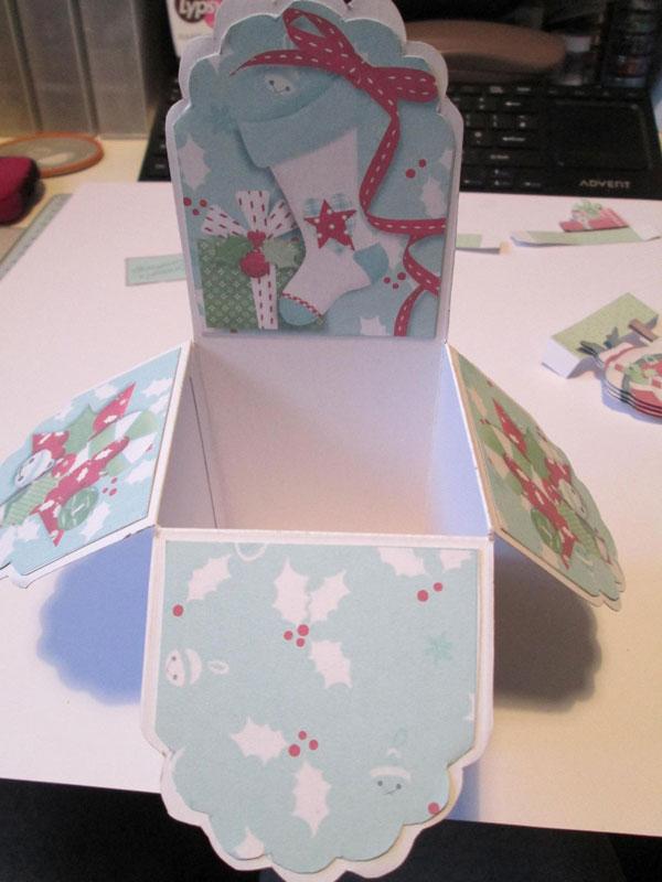 Folded into the box shape