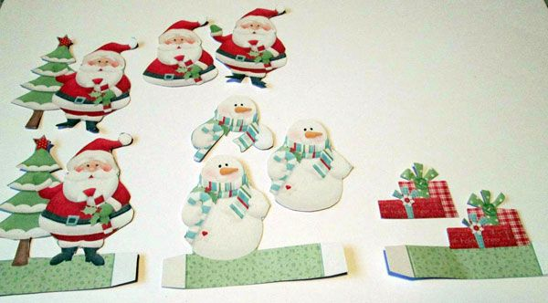 Decoration and Decoupage pieces cut from printables