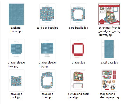 Easel Card Printables in the Kit