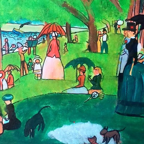 Ruth O'Hagan's own version of 'A Sunday on La Grande Jatte'