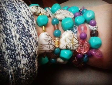 Handmade bracelet using beads for the creative wellbeing