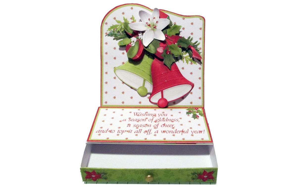 Christmas Easel Card Made with Printables