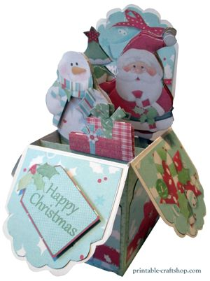 Christmas Pop Up Box Card