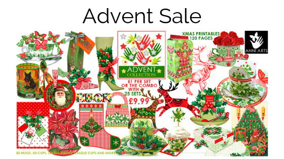 Christmas printables advent sale