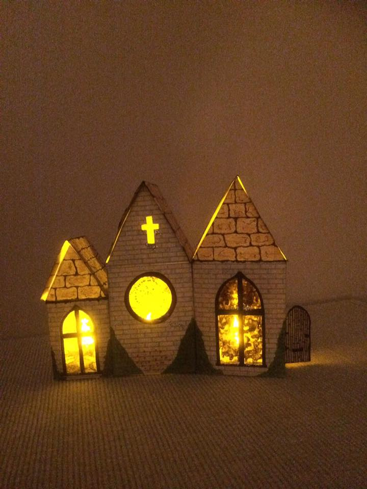 Little churches made from birdhouse template printables