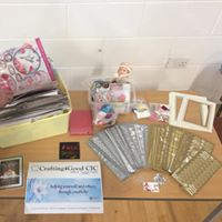 Free craft supplies for attendees at a mental health event