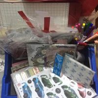 Craft supplies donated for craft sessions in a hostel