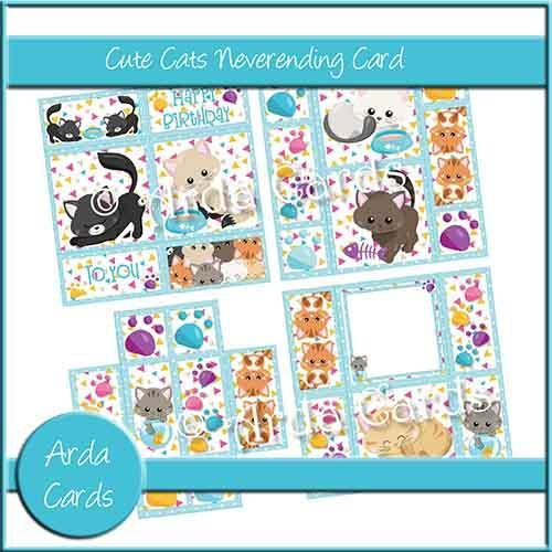 Cute Cats Never Ending Printable Card