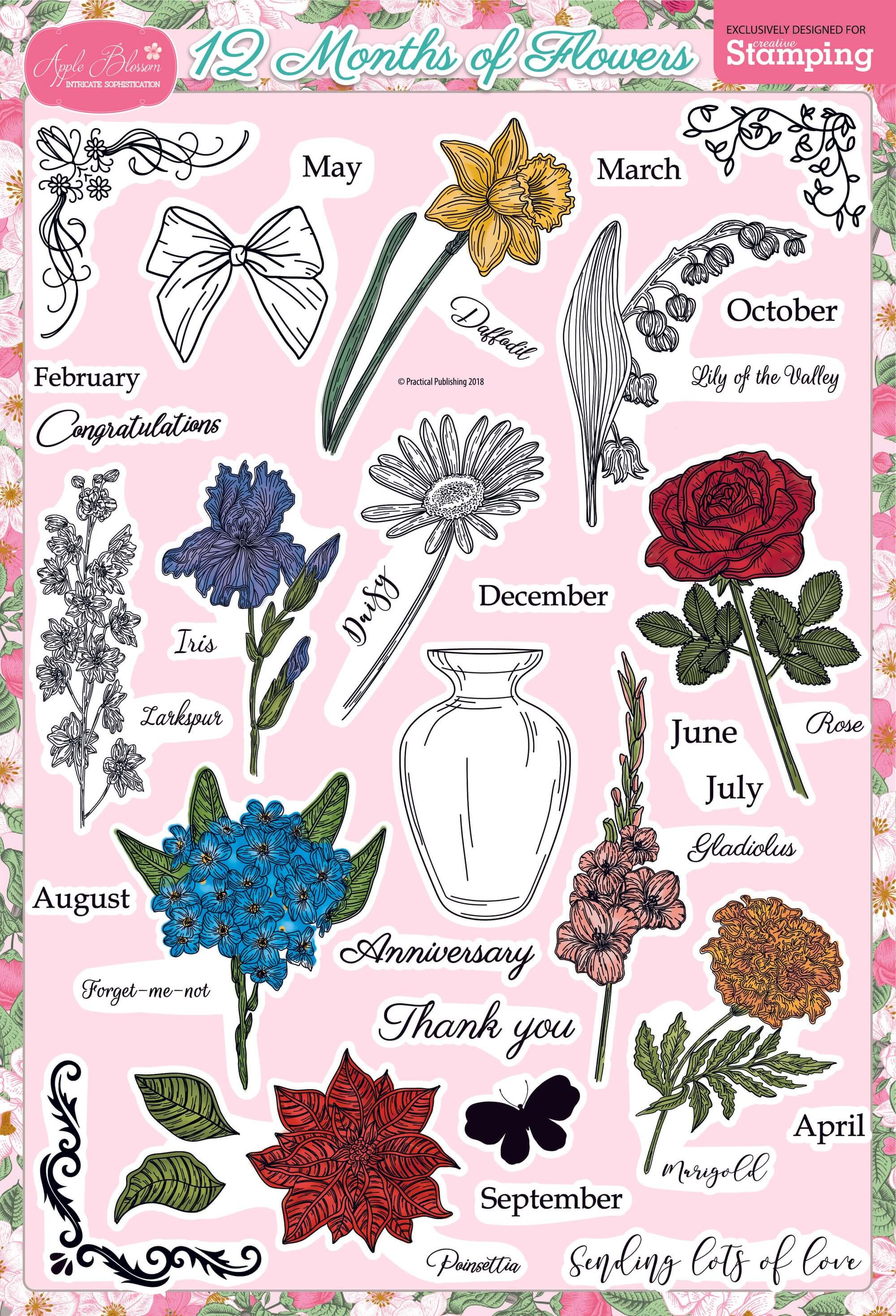 Free Digital Stamp Download - Flowers
