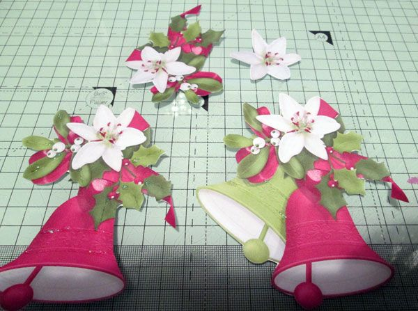 Decoupage pieces cut from printables