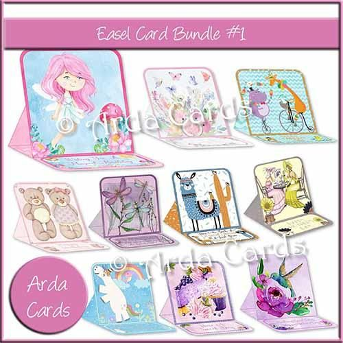 Printable Easel Card Bundle #1