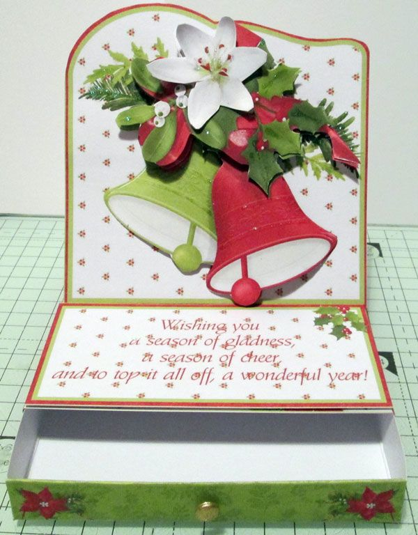 Finished Easel card with gift drawer