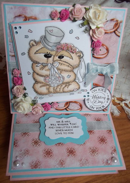 Wedding Themed 4 Drawer Easel Card