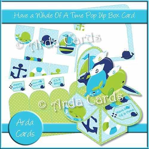 Whale of a Time Printable Pop Up Box Card