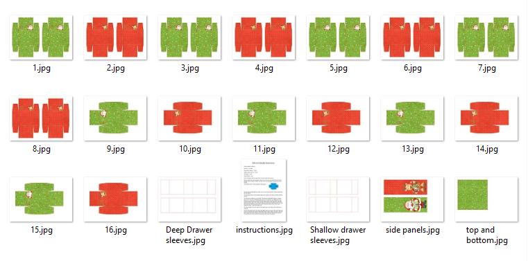 Ho Ho Ho Printable Advent Calendar Drawers - Kit Contents