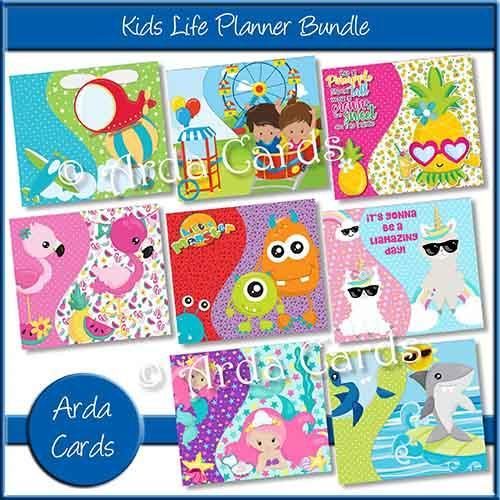 Bundle of 8 Kids Printable Planners