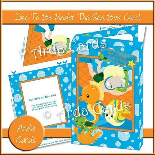 Fish Printables: 3D Box Card