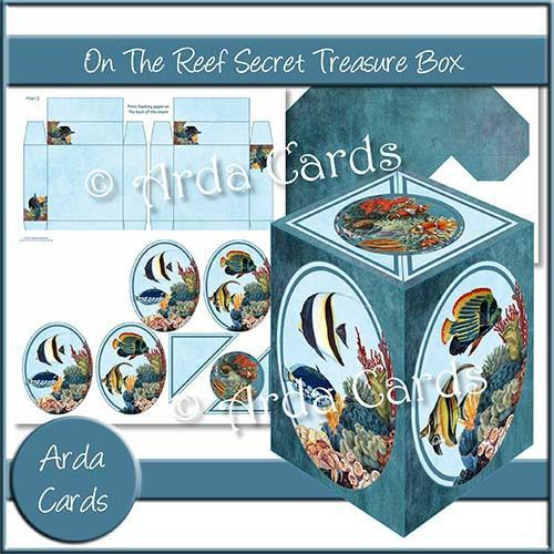On the Reef Printable Secret Treasure Box