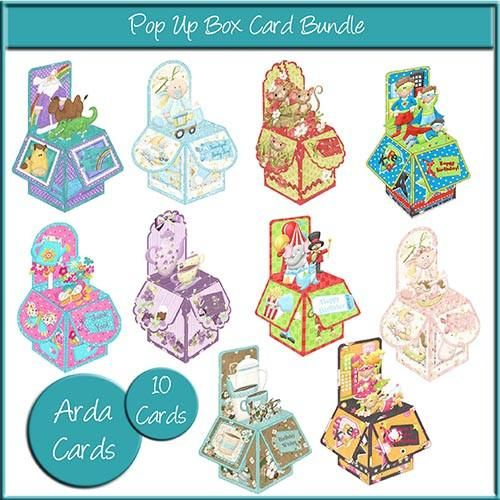 Printable Pop Up Box Card Bundle
