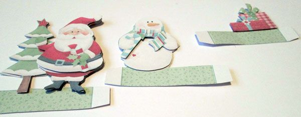 Decoupage pieces assembled together for the 'Pop Up' parts
