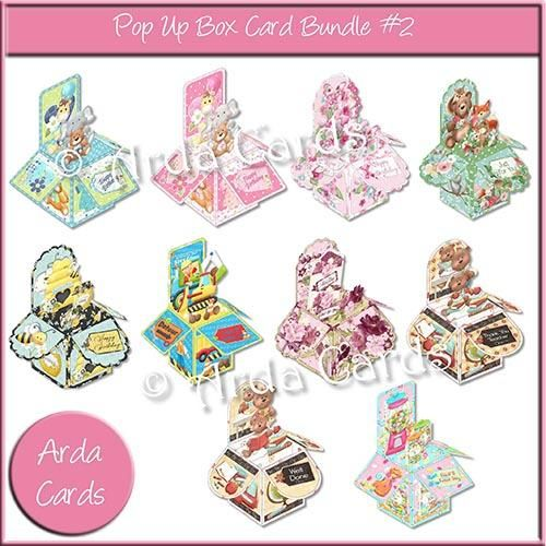 Printable Pop Up Box Bundle #2