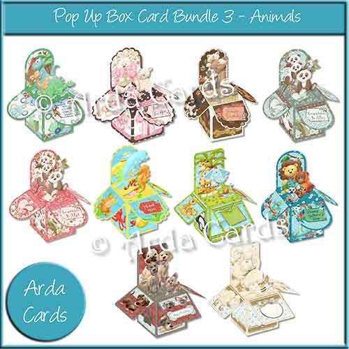 Cute Animals Printable Pop Up Box Bundle