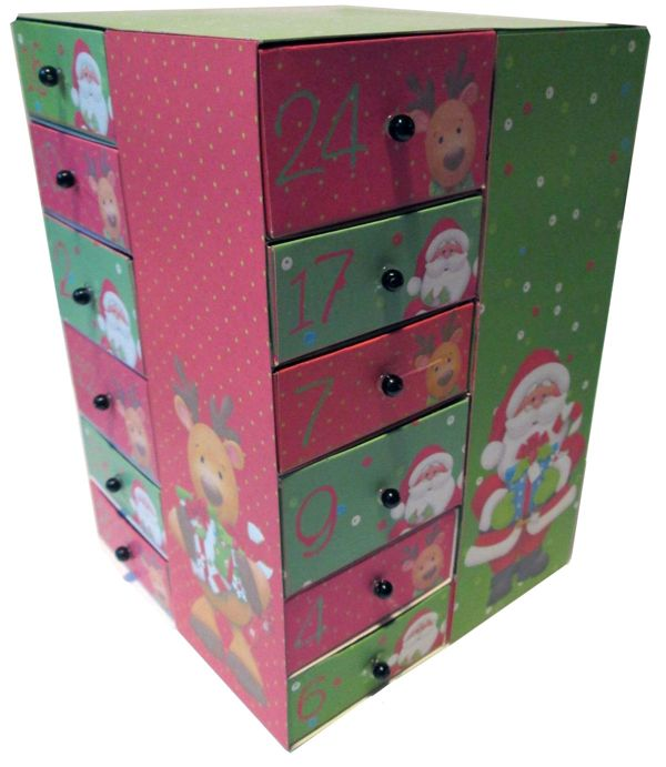 Printable Advent Calendar with Drawers - Ho Ho Ho Kit