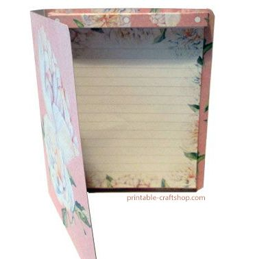 White Peonies List Book Made with Printables