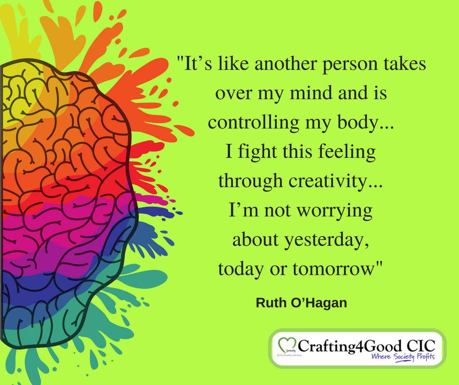 Calming effect of creativity