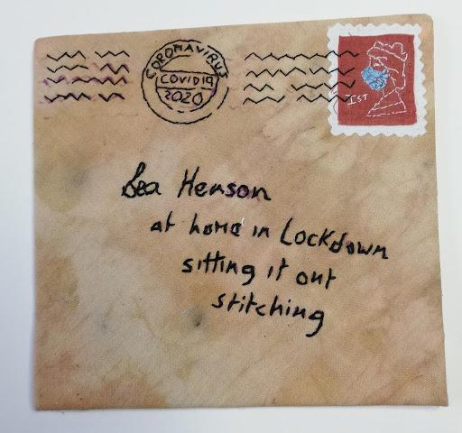 slow stitching fabric envelope