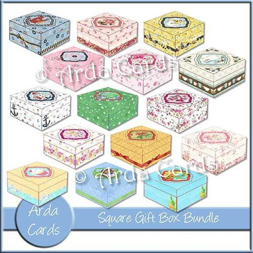 Square Printable Gift Box Bundle