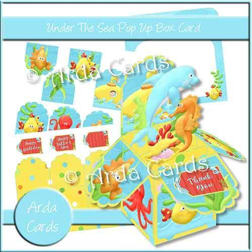Under the Sea Printable Pop Up Box Card Kit