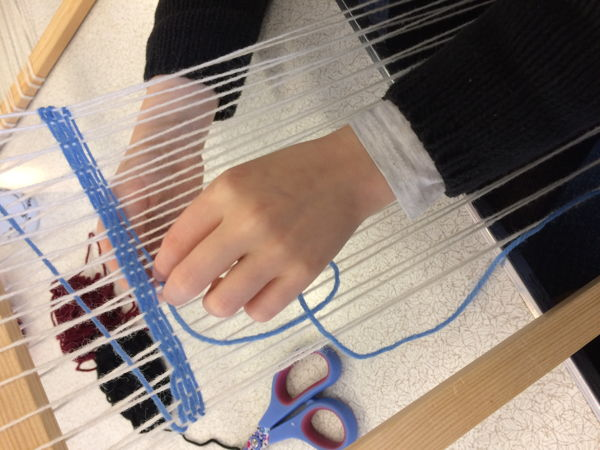 10 year old trying weaving for the first time