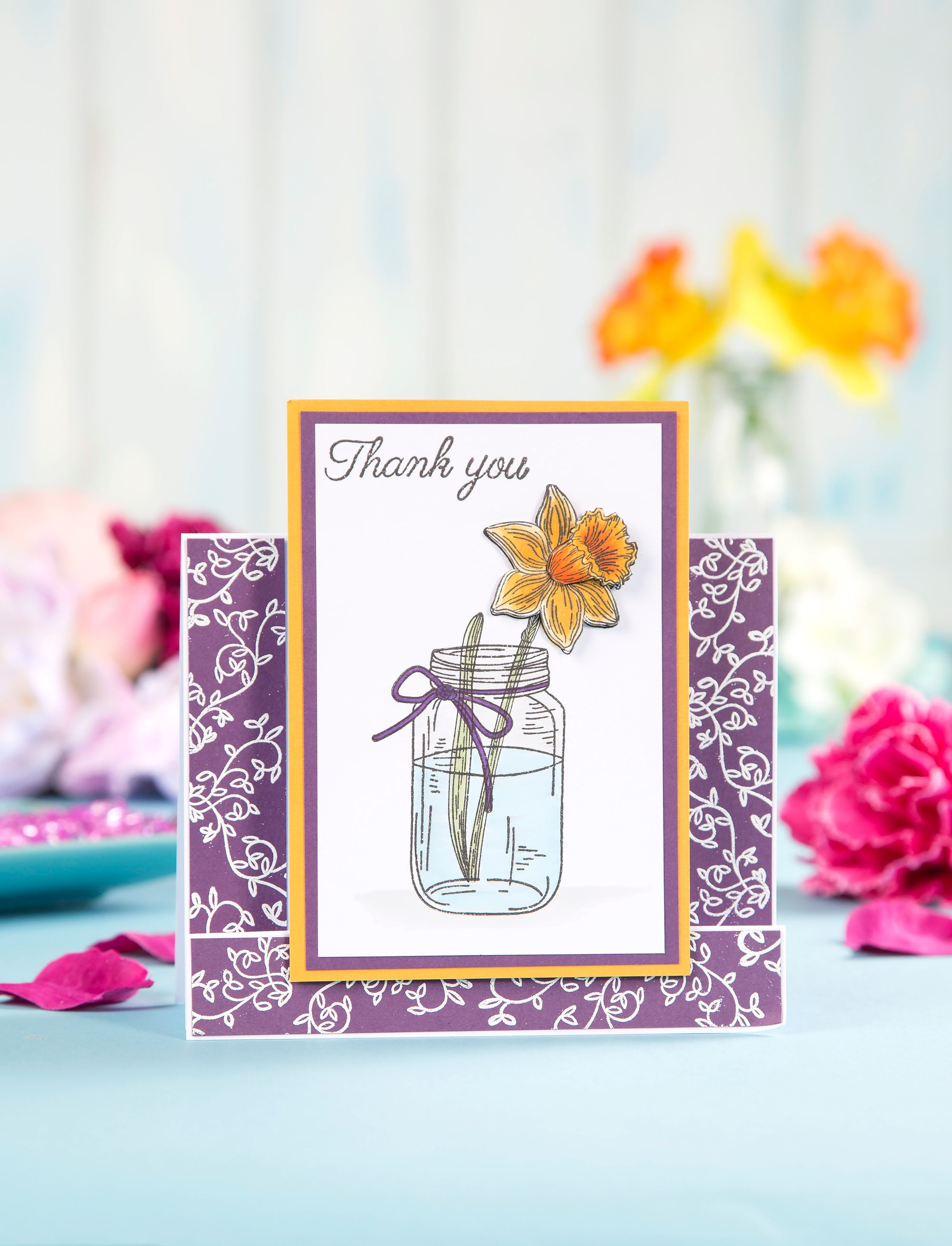 Thank You Card Made with Free Digital Stamp Set